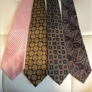 Lot of 4 Ties PRONTO UOMO Paisley abstract design